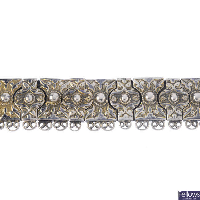 A late 19th century Russian silver choker.