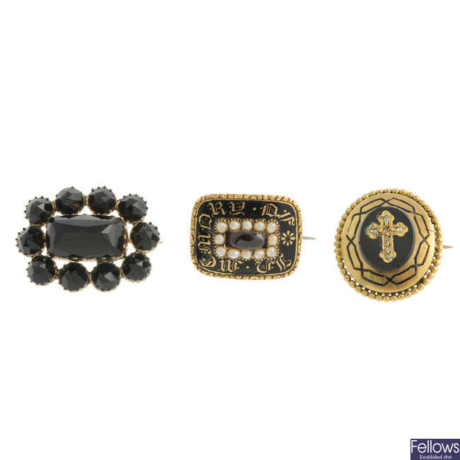 Three early 19th century brooches.