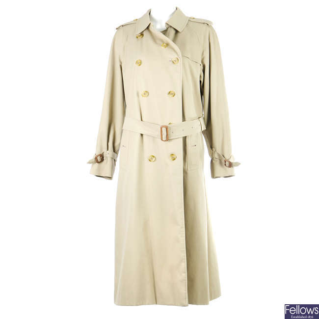 BURBERRY - a women's classic full-length trench coat.