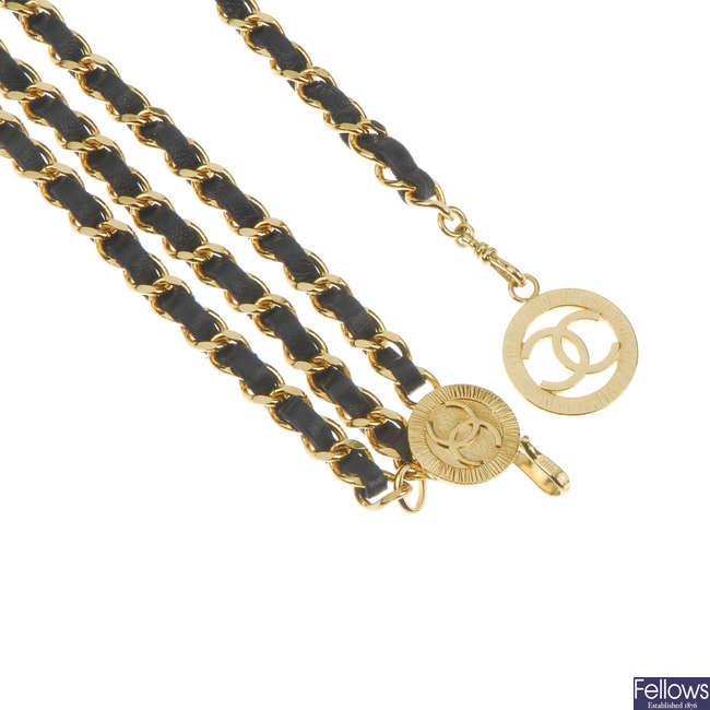 CHANEL - a chain belt.