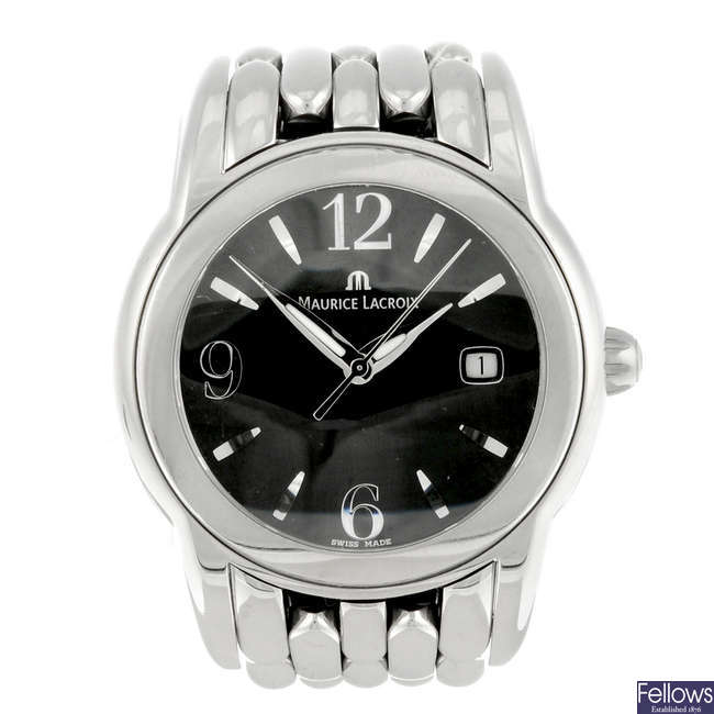 MAURICE LACROIX - a gentleman's stainless steel Sphere bracelet watch.
