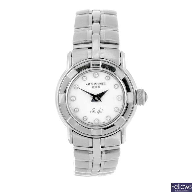 RAYMOND WEIL - a lady's stainless steel Parsifal bracelet watch.