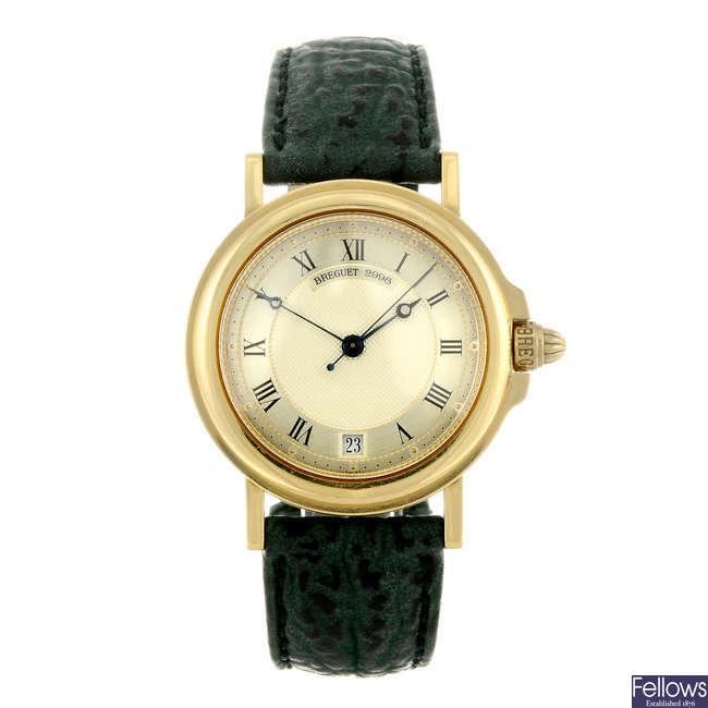 BREGUET - a gentleman's 18ct yellow gold Marine wrist watch.