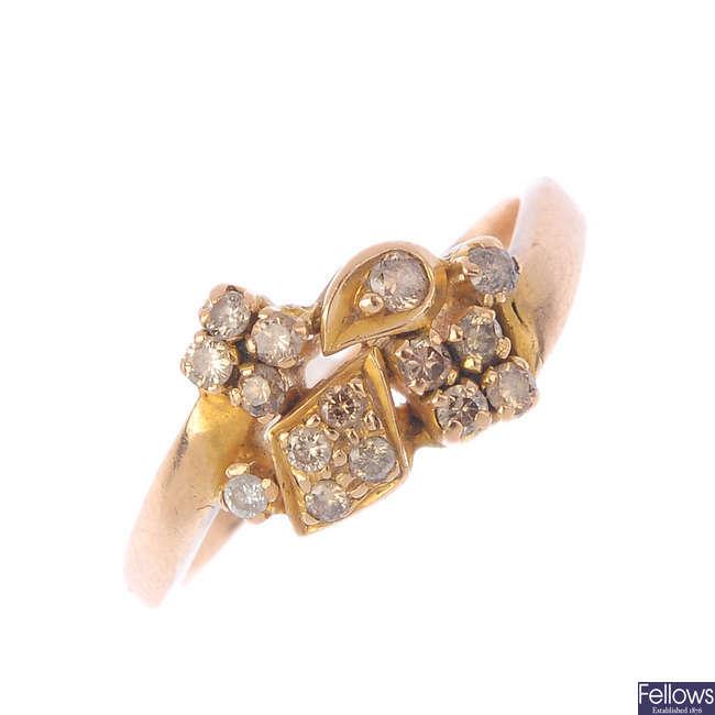 Two diamond dress rings.