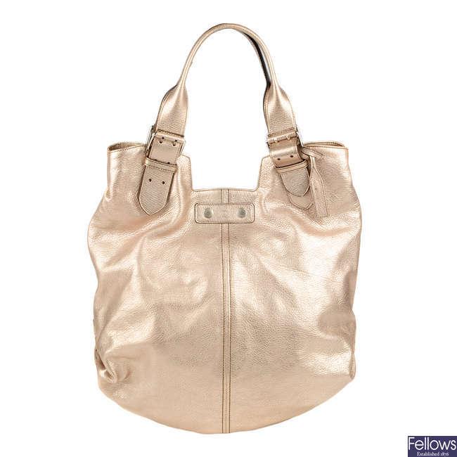 ALEXANDER MCQUEEN - a metallic Faithful handbag.