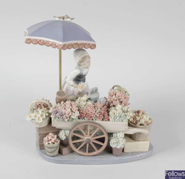 A Lladro porcelain ornament.