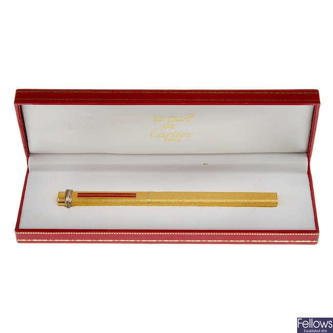 CARTIER - a Must De Cartier ballpoint pen.