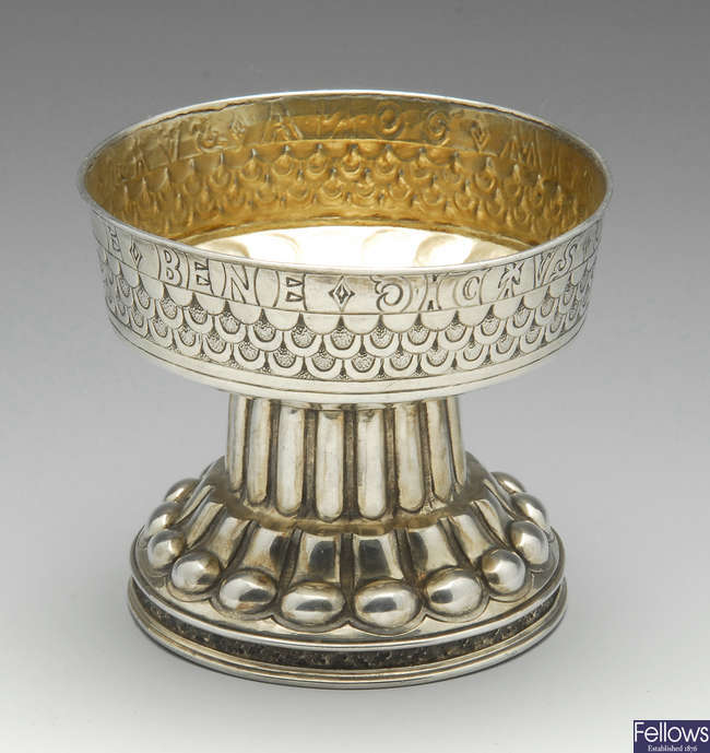 An Edwardian silver reproduction of The Tudor Cup.