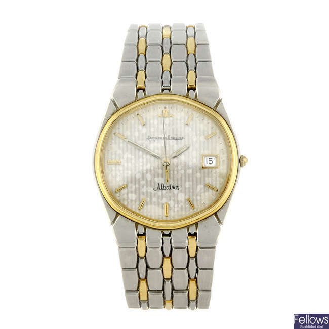 JAEGER-LECOULTRE - a gentleman's bi-metal Albatros bracelet watch.