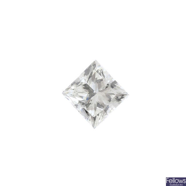 A square-shape diamond, weighing 0.52ct.