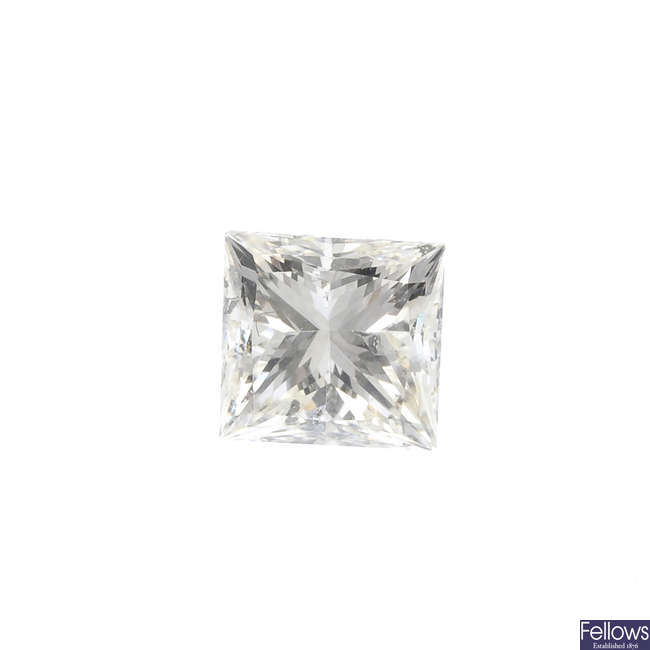 A square-shape diamond, weighing 0.90ct.