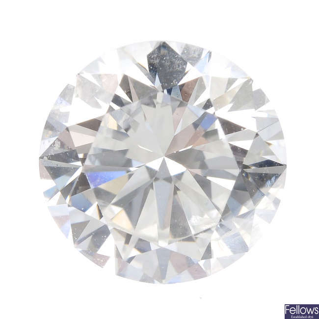 A brilliant-cut diamond, weighing 1.24cts.