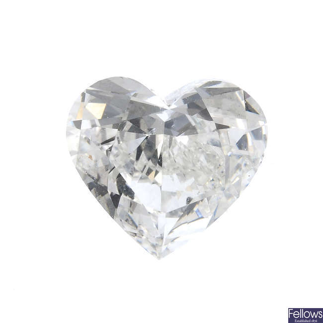 A brilliant-cut diamond, weighing 1.53cts.