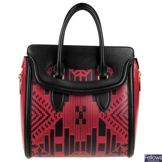 ALEXANDER MCQUEEN - a Patchwork Print Heroine handbag.
