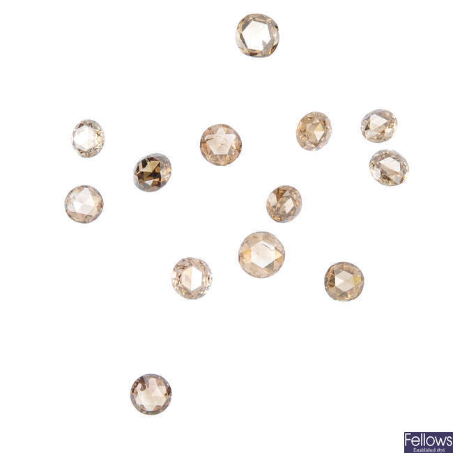 A selection of mostly rose-cut diamonds, total weight 6.70cts.