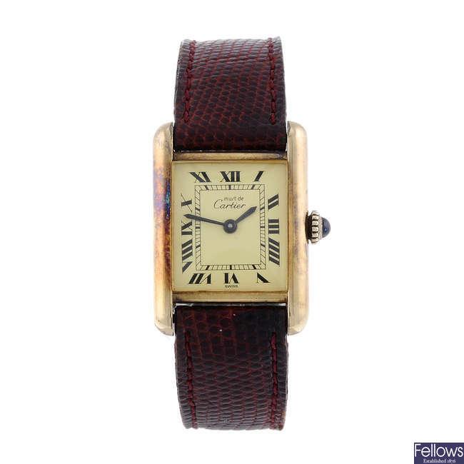 CARTIER - a Must de Cartier Tank wrist watch.