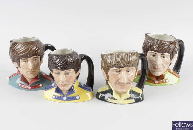 Royal Doulton Character jugs: The Beatles, 6724, 6725, 6726, 6727.