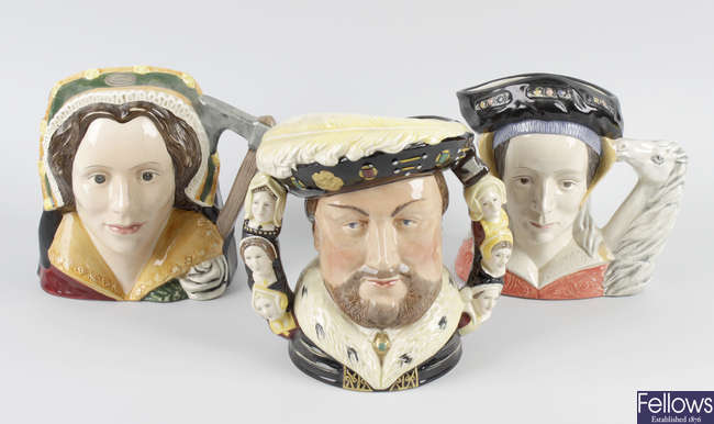 Royal Doulton character jugs: Henry VIII and his wives