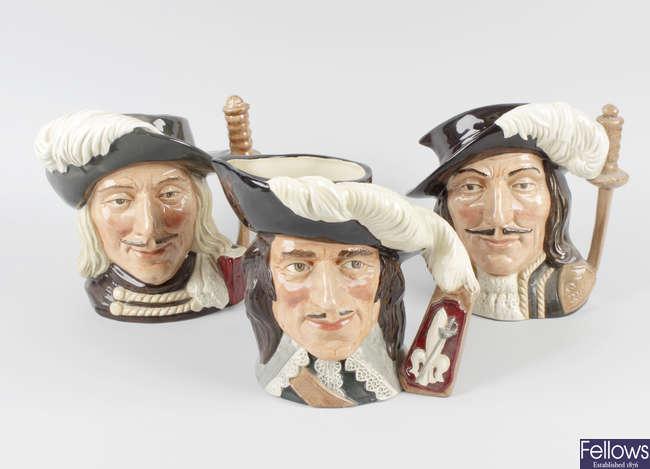 A group of Royal Doulton character jugs
