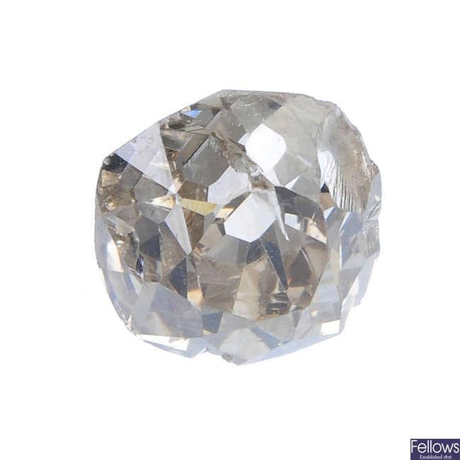 An old-cut diamond, weighing 1.12ct.