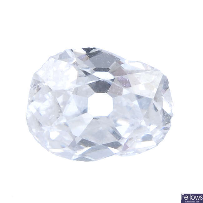 An old-cut diamond, weighing 0.61ct.