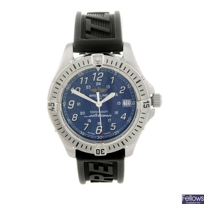 BREITLING - a gentleman's stainless steel Aeromarine Colt wrist watch.
