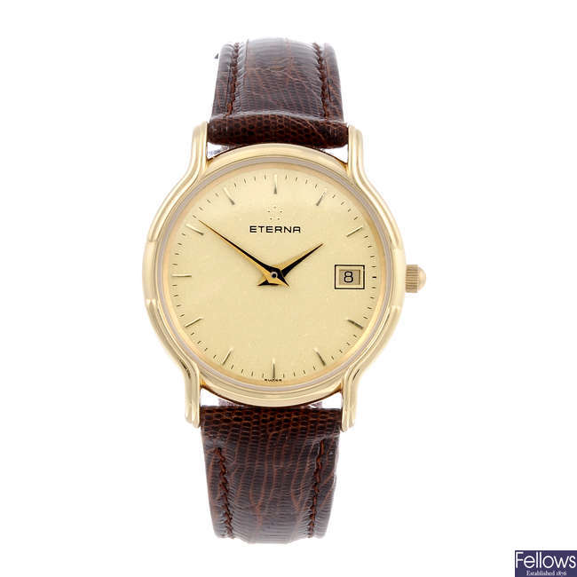 ETERNA - a lady's gold plated wrist watch.