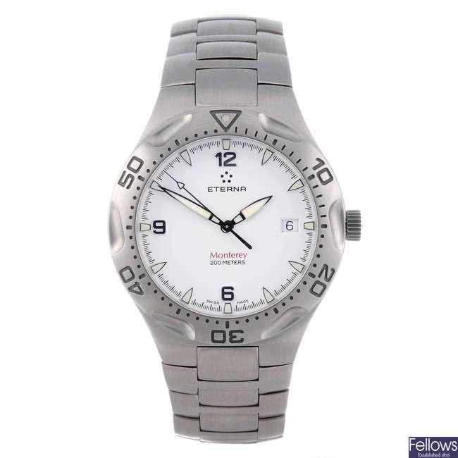 ETERNA - a gentleman's stainless steel Monterey bracelet watch.