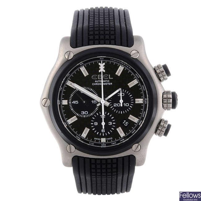 EBEL - a gentleman's bi-material 1911 chronograph wrist watch.