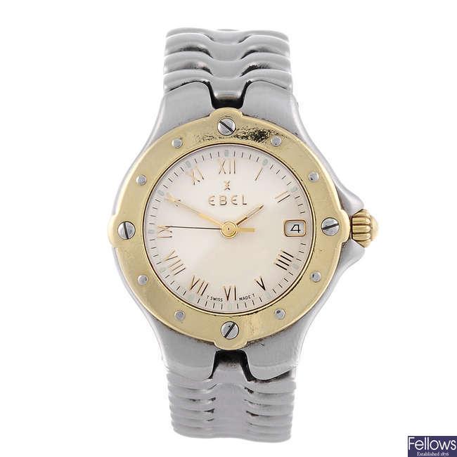 EBEL - a lady's bi-colour Sportwave bracelet watch.