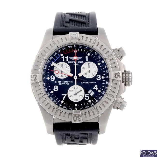 BREITLING - a gentleman's titanium Chrono Avenger M1 chronograph wrist watch.