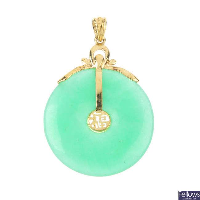 A jade pendant.