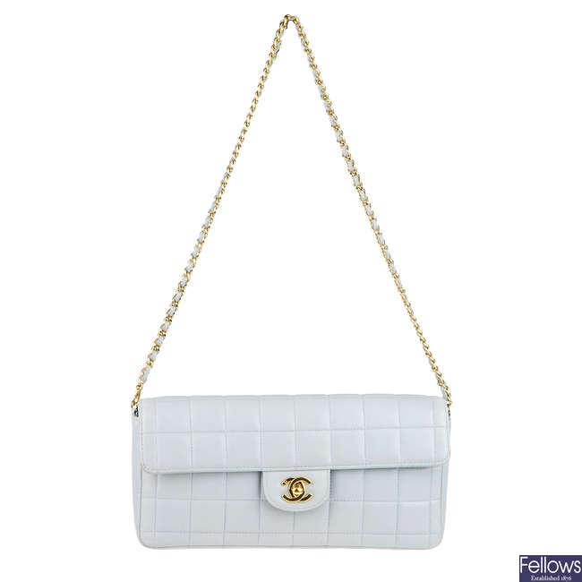 CHANEL - a blue Chocobar handbag.