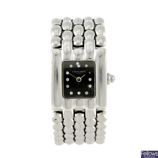CHAUMET - a lady's stainless steel Khesis bracelet watch.