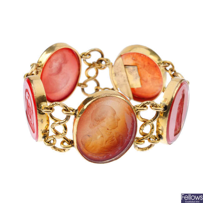 An intaglio bracelet.