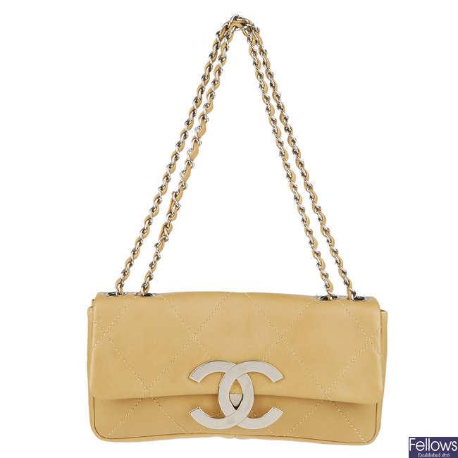 CHANEL - a CC flap handbag.