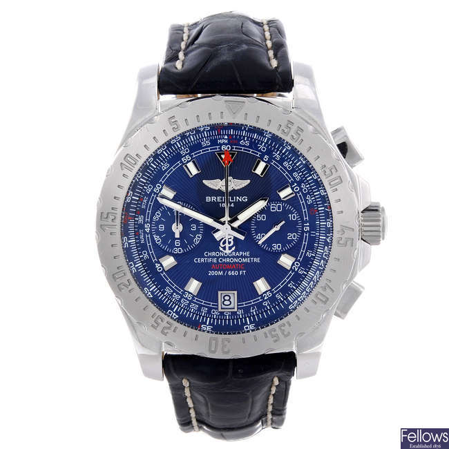BREITLING - a gentleman's stainless steel Professional Skyracer chronograph wrist watch.