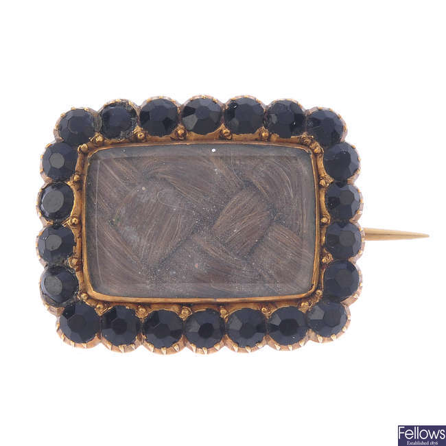 An early 19th century memorial brooch.