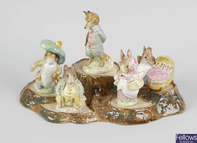 Six assorted Beswick Beatrix Potter storybook figurines