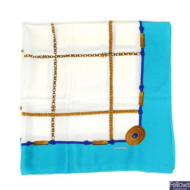 CHANEL - a silk scarf.