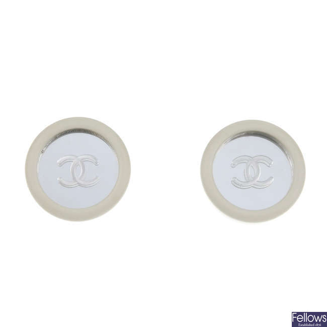 CHANEL - a pair of ear clips.