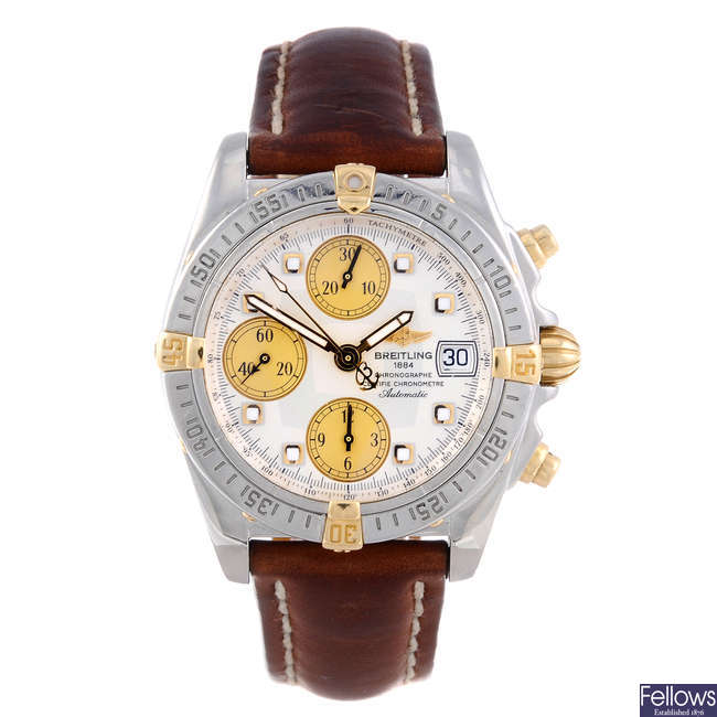BREITLING - a gentleman's stainless steel Chrono Galactic chronograph wrist watch.