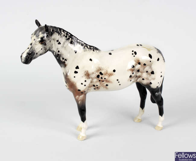 A Beswick model of a dappled Appaloosa horse.