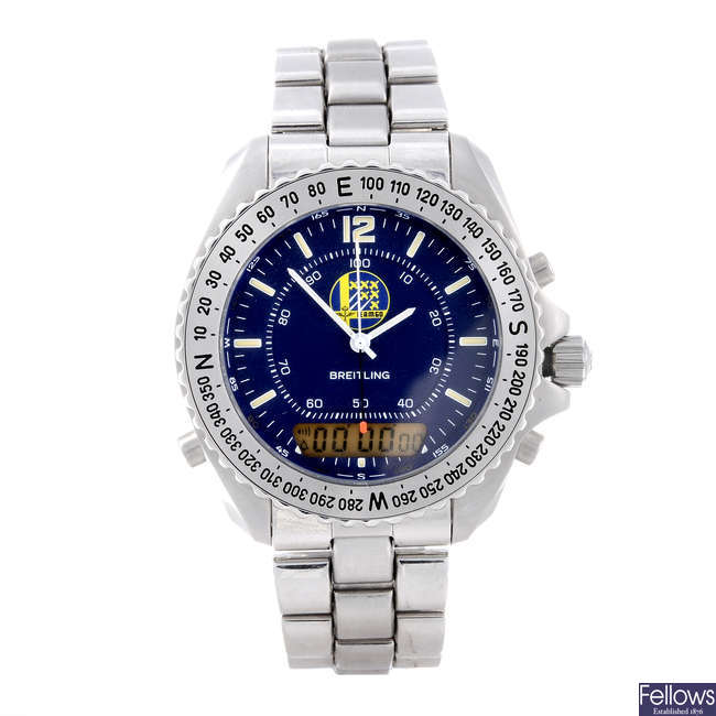 BREITLING - a limited edition gentleman's stainless steel Navitimer Pluton