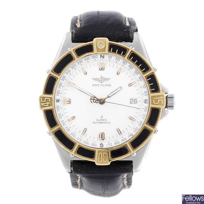 BREITLING - a gentleman's bi-metal J Class wrist watch.