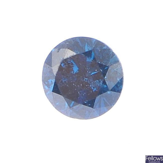 A selection of diamonds and colour treated diamonds.