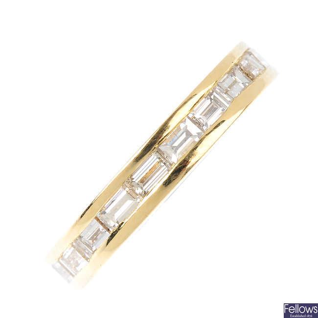 A diamond full-circle eternity ring.