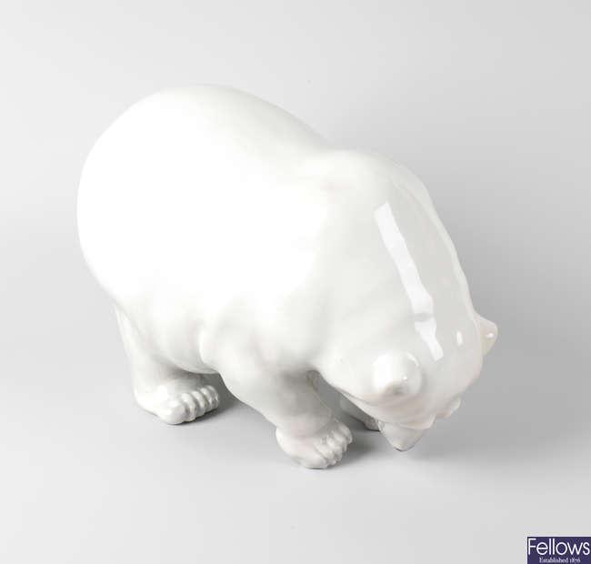 A Royal Copenhagen Polar bear.