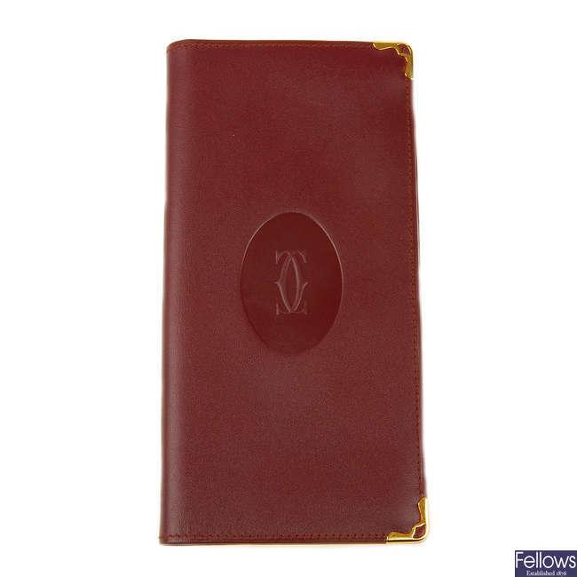 CARTIER - a Bordeaux wallet.