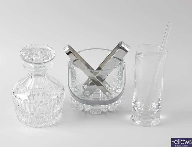 A group of Orrefors (Sweden) and other glassware